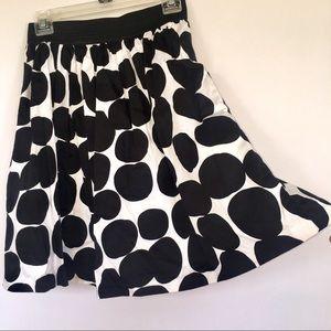Dresses & Skirts - White Black Polka Dot Skirt Elastic Waist SP